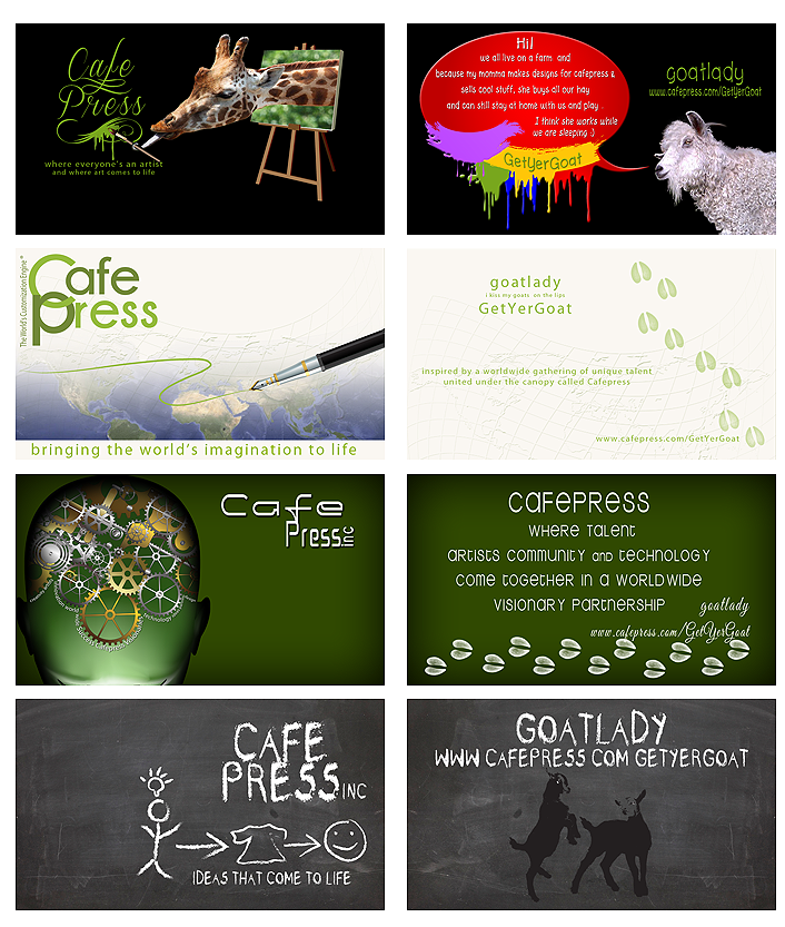Bizcard Designs submitted for Bob Marino CEO Cafepress